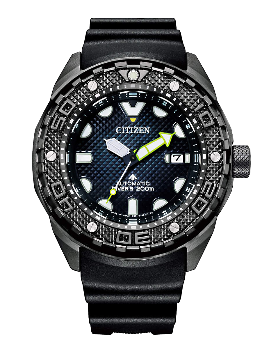 reloj citizen promaster novedad 2021 calibre automatico con zafiro y super titanium DLC modelo esfera azul NB6005-05L