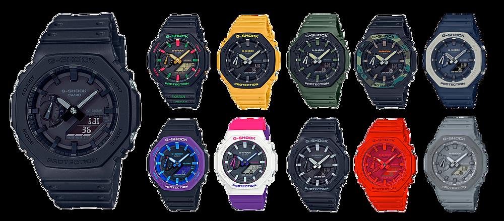 nuevos relojes icónicos de casio G-shock: el casioak GA-2100-1A1ER all black