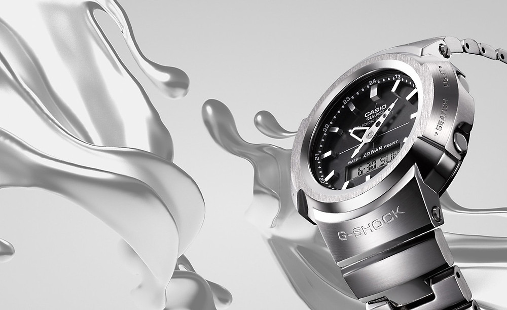 Nuevos relojes de acero serie AWM-500 solares multiband 6