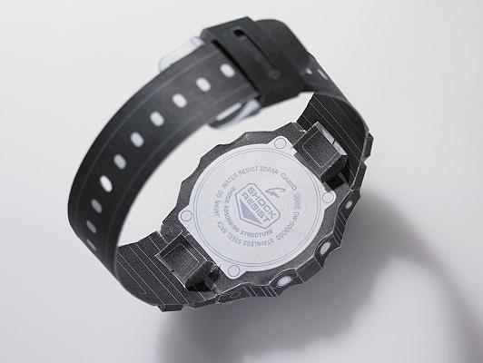 Reloj DW5600 de papel para manualidades