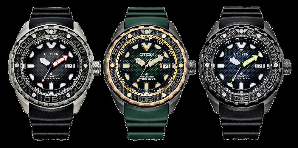 nuevos relojes diver's citizen promaster 200m automaticos resistentes campos magneticos jis-clase-2 2021