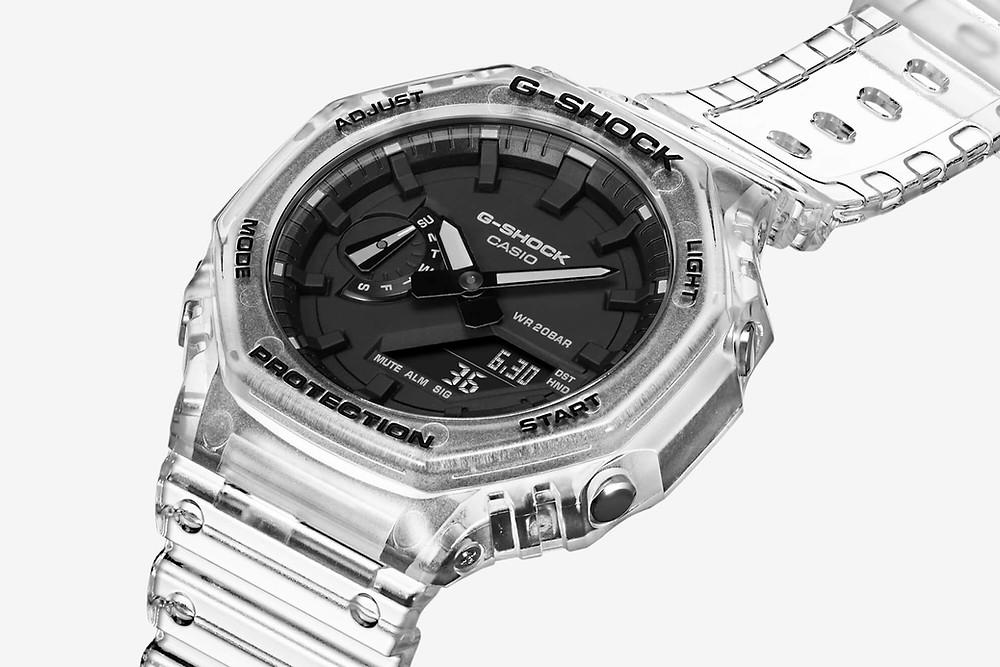 Casio G-Shock Resina transparente CasiOak GA-2100SKE-7AER reloj de moda 2021