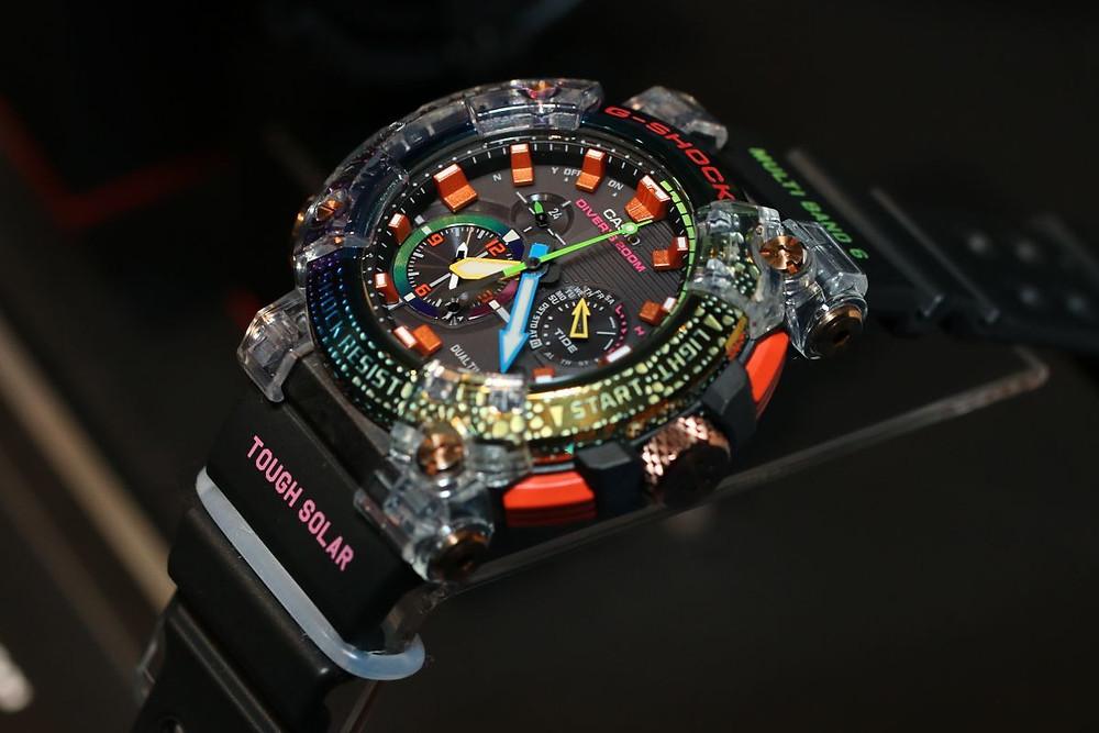 Nuevo reloj GWF-A1000BRT-1A multicolor, primer frogman analogico de edicion limitada