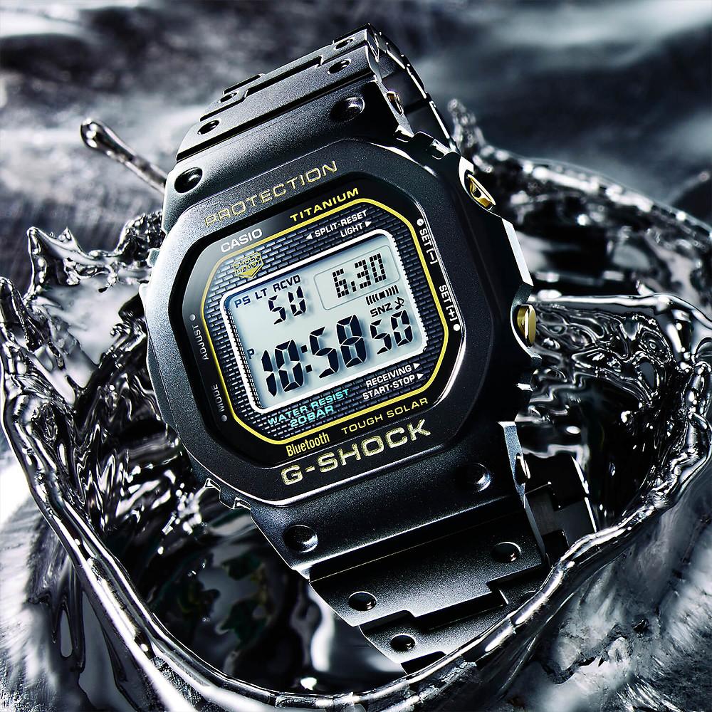 reloj casio g-shock de titanio modelo GMWB5000TB-1