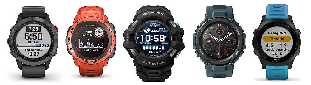 comparativa smartwatch deportivos top del mercado versus g-shock novedad gswh1000