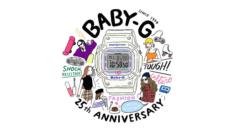 Reloj de edicion limitada Baby-G modelo BGD-525-7