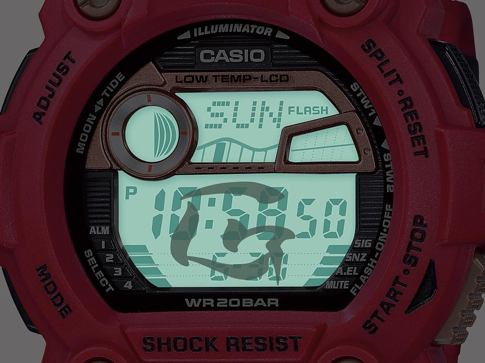Detalle iluminacion reloj g-shock edicion limitada modelo G-7900SLG-4