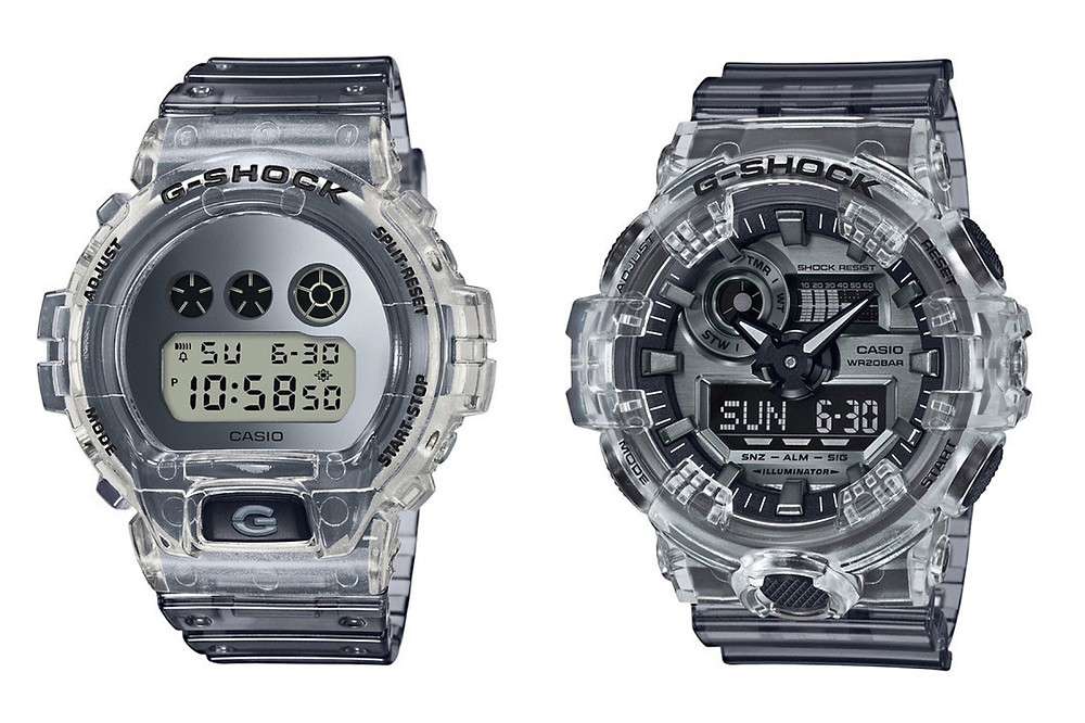 Relojes Casio G-Shock DW-6900SK-1 y GA-700SK-1