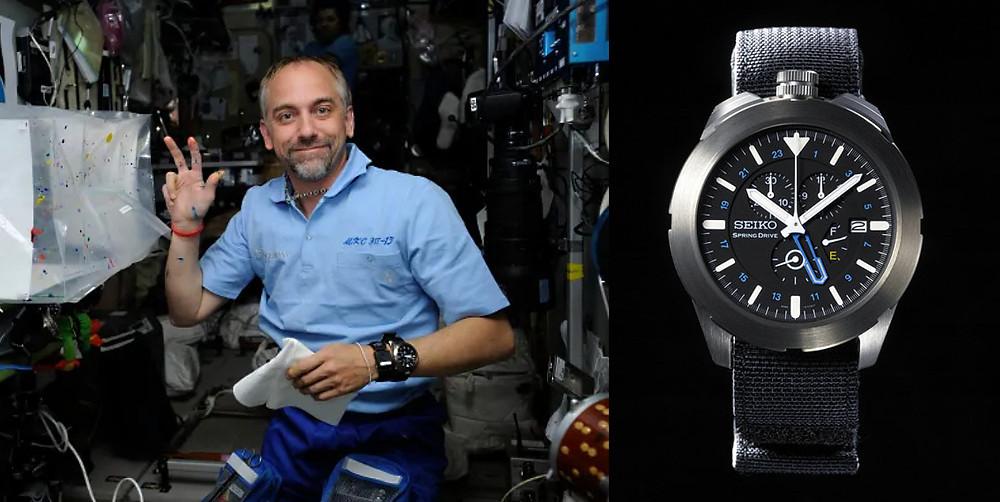 astronauta millonario richard garriott con seiko Spacewalk calibre spring drive
