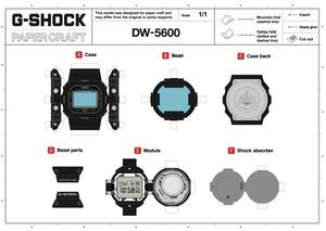 construye tu propio reloj G-Shock DW5600 en papel