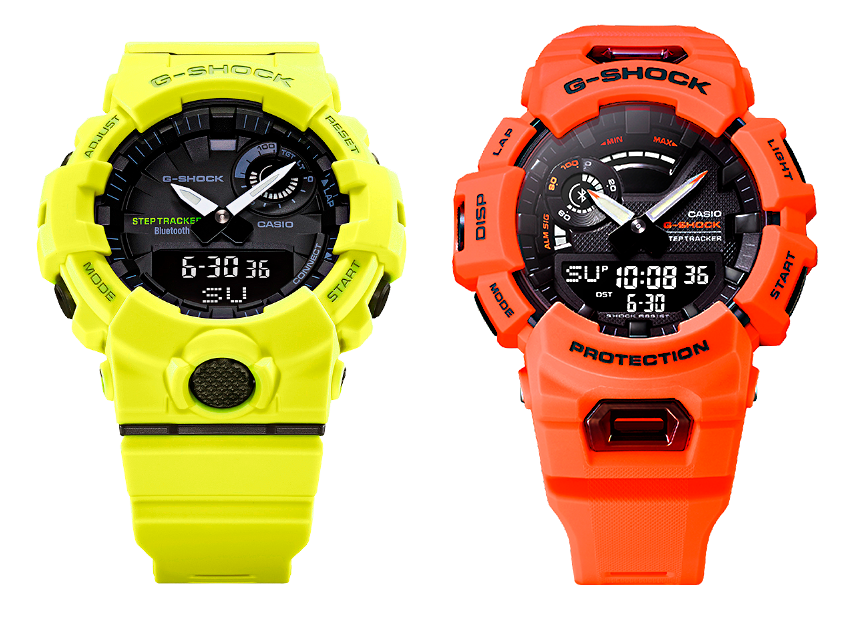 relojes deportivos gba de casio g-shock con cuenta pasos - acelerómetro