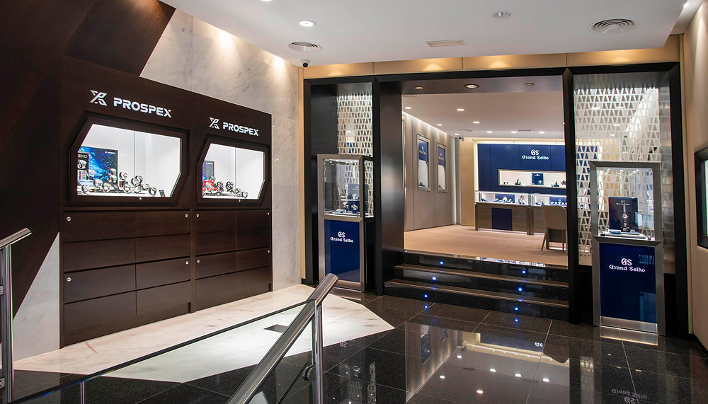 Espacio relojes Seiko prospex en nueva tienda Seiko Boutique de Madrid