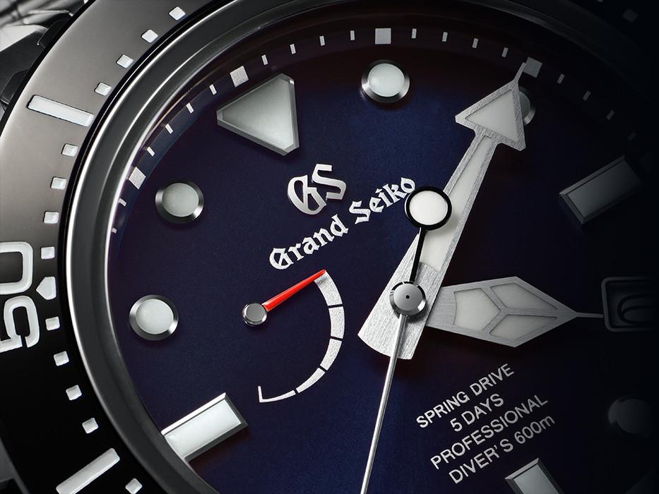 reloj GS SLGA001 detalle esfera edición especial 60 aniversario