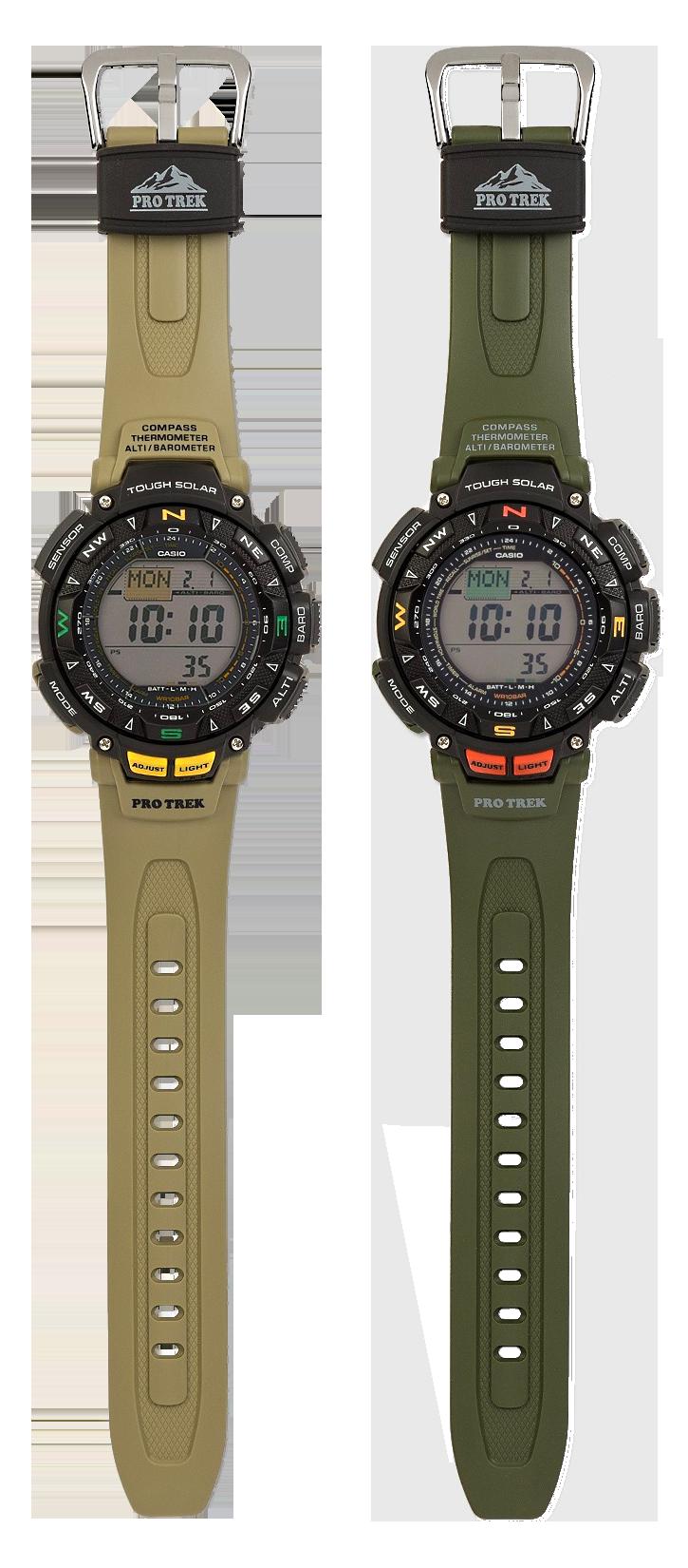 PRG-240-3 y PRG-240-5 vista completa relojes Casio Pro Trek2021