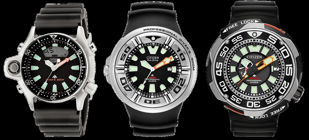 Relojes Diver's Citizen famosos