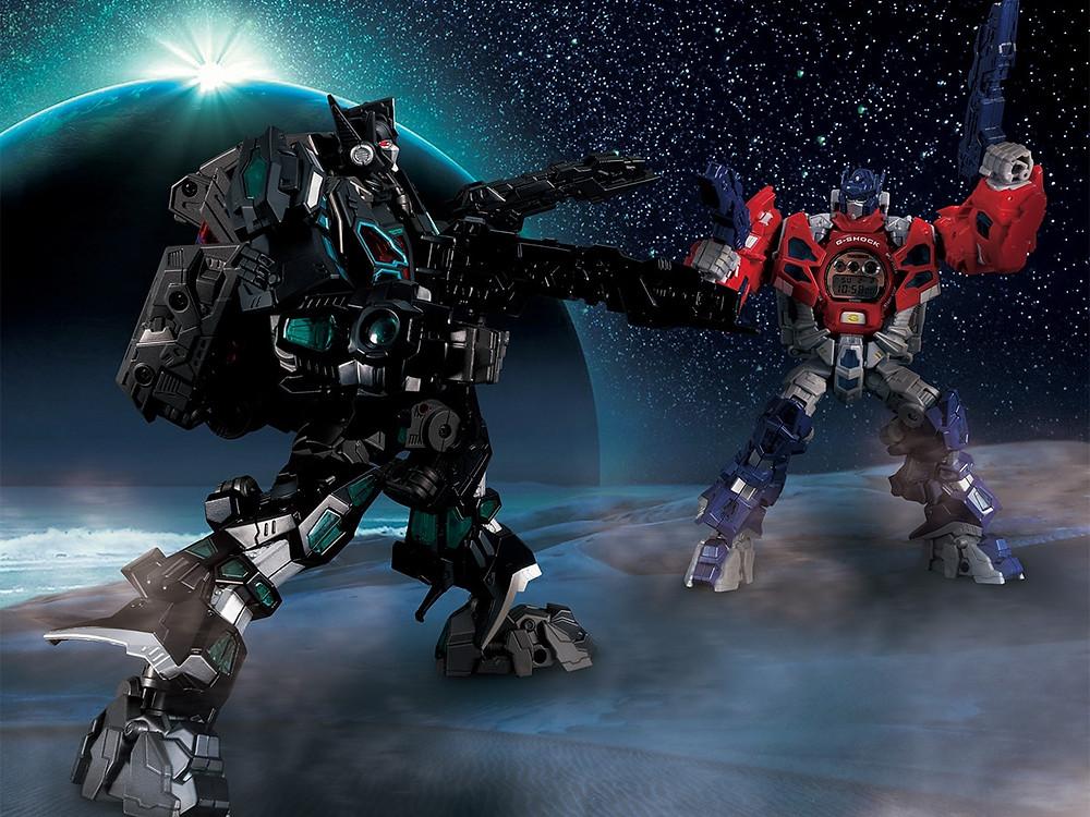 Dos Transformers edicion limitada de Casio G-Shock
