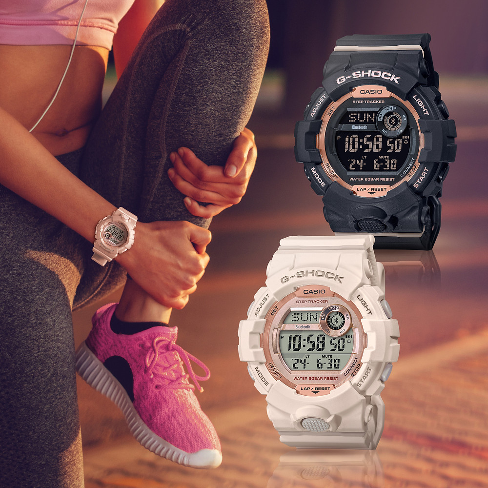 Nuevos relojes G-SHOCK serie GMDB800 con Bluetooth y contador pasos para chicas