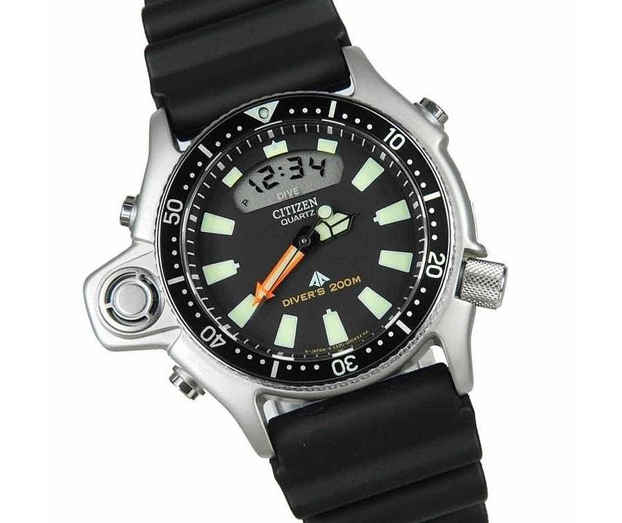 AQUALAND I JP2000-08E reloj Citizen legendario para buceo con profundimetro