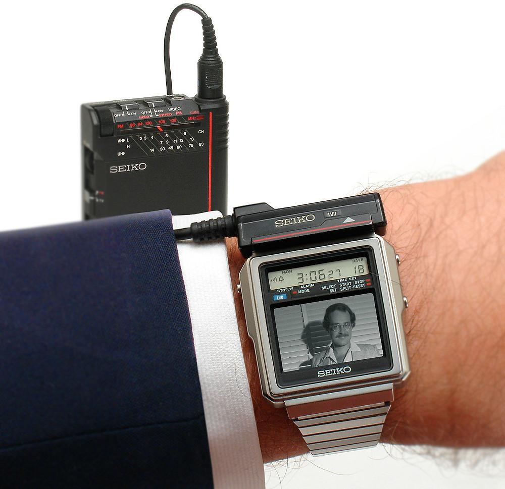 Reloj televisión de los 80 modelo T001-5019, fabricado por seiko Japón