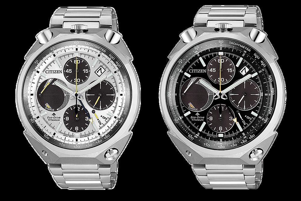nuevos relojes citizen en super titanio ref. AV0080-88E y AV0080-88A 'bull head'