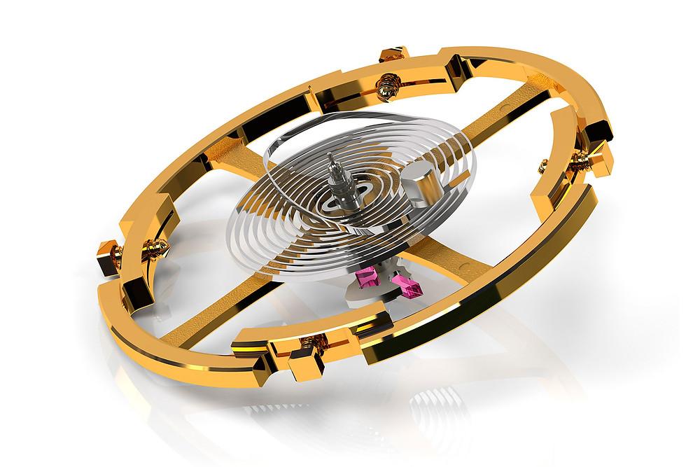 detalle volante espiral movimiento automático Calibre Grand Seiko 9SA5