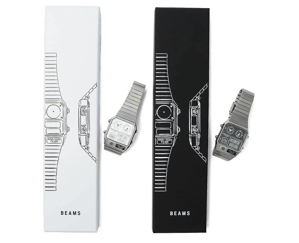 edicion limitada 2020 reloj citizen ana-digi temp x beams 2 colores