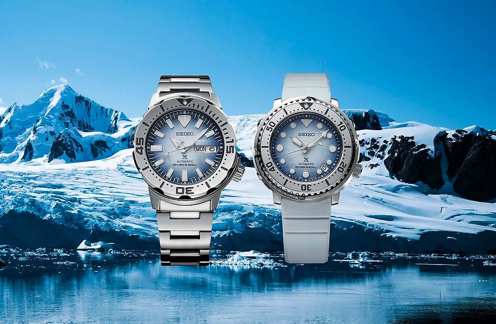 nuevos relojes seiko prospex antartic MONSTER SRPG57K1 Y MINI TUNA SRPG59K1