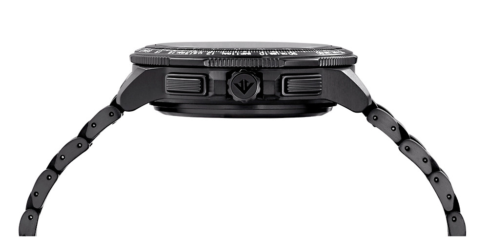 Detalle pulsadores y caja modelo citizen GPS super-titanium-eco drive CC9025-51E