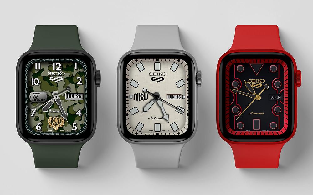 réplicas de esferas de relojes en el apple watch