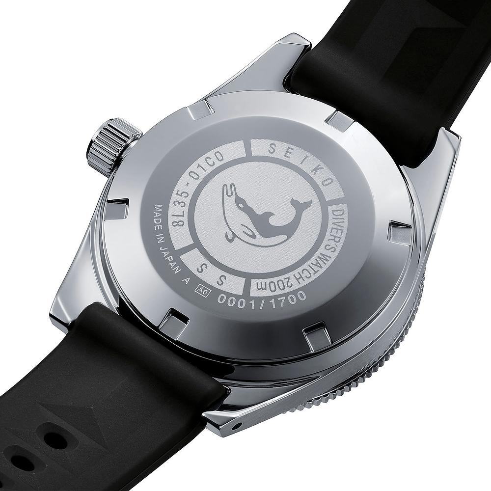 Detalle tapa de fondo roscada reloj seiko 55th SLA043J1 edicion limitada