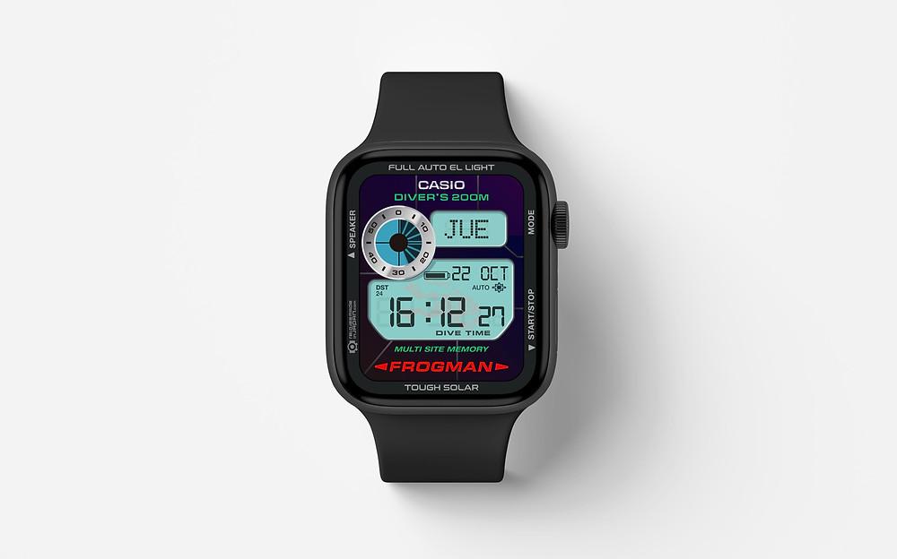 Watchface para apple de reloj frogman gw200