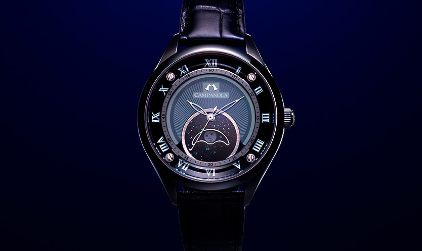 Reloj alta gama con fases lunares 'YUZURU' de Campanola modelo EZ2000-06A