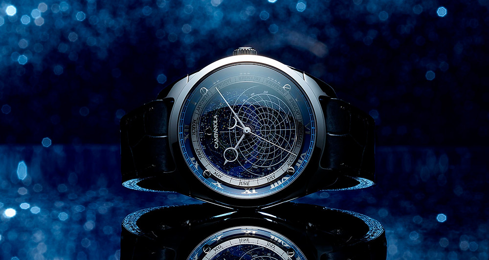 Reloj alta gama japones marca Campanola CTV57-1231 Cosmos