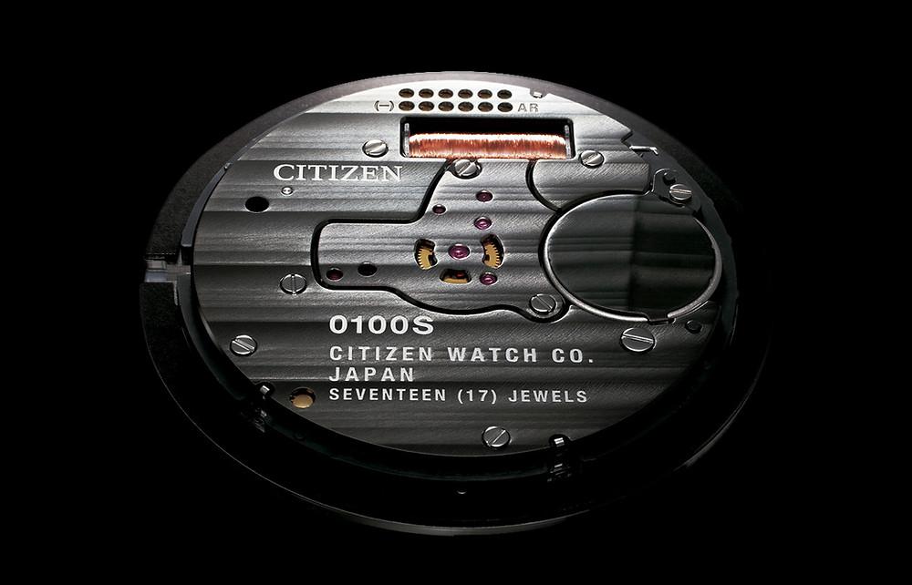 Citizen crea reloj cuarzo mas preciso del mundo en 2018, Calibre 0100