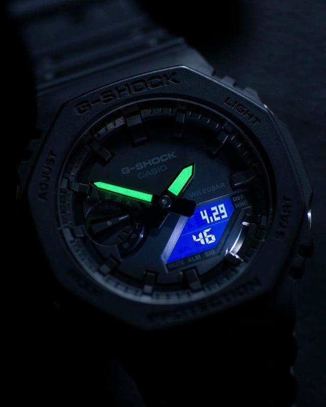 iluminacion nocturna reloj gshock ga2100