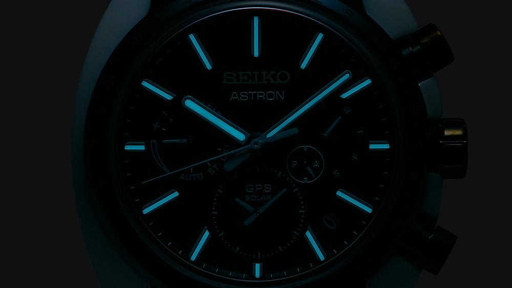 Reloj especial seiko Astron caja de titanio combinando con ceramica GPS solar ref SBXC075