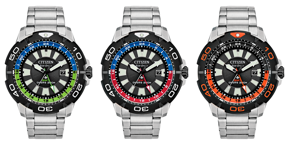 Nuevos relojes Citizen promaster GMT dual time 200m
