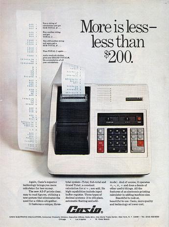 Publicidad Casio USA calculadoras