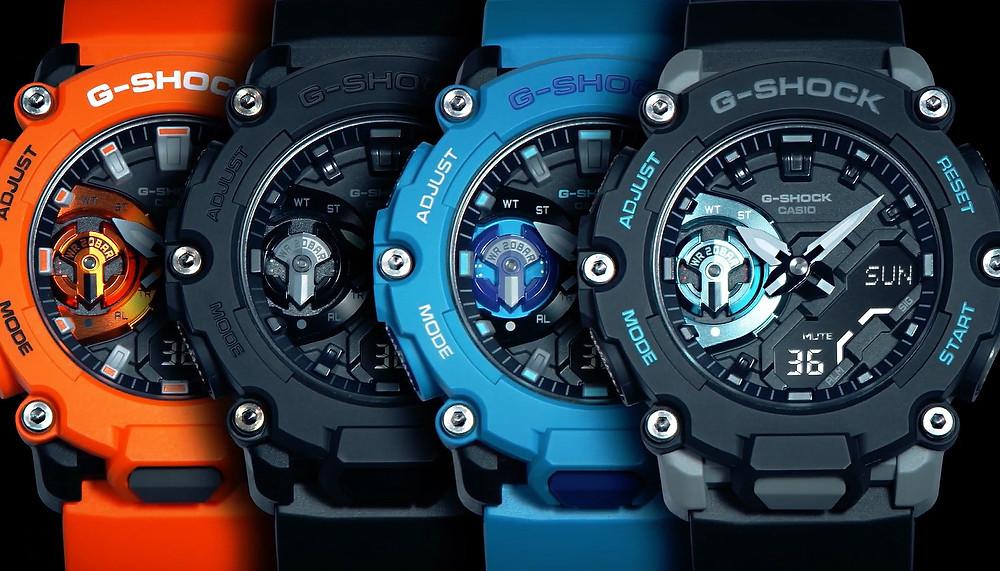 nuevos relojes casio g-shock ga-2200 en 4 colores