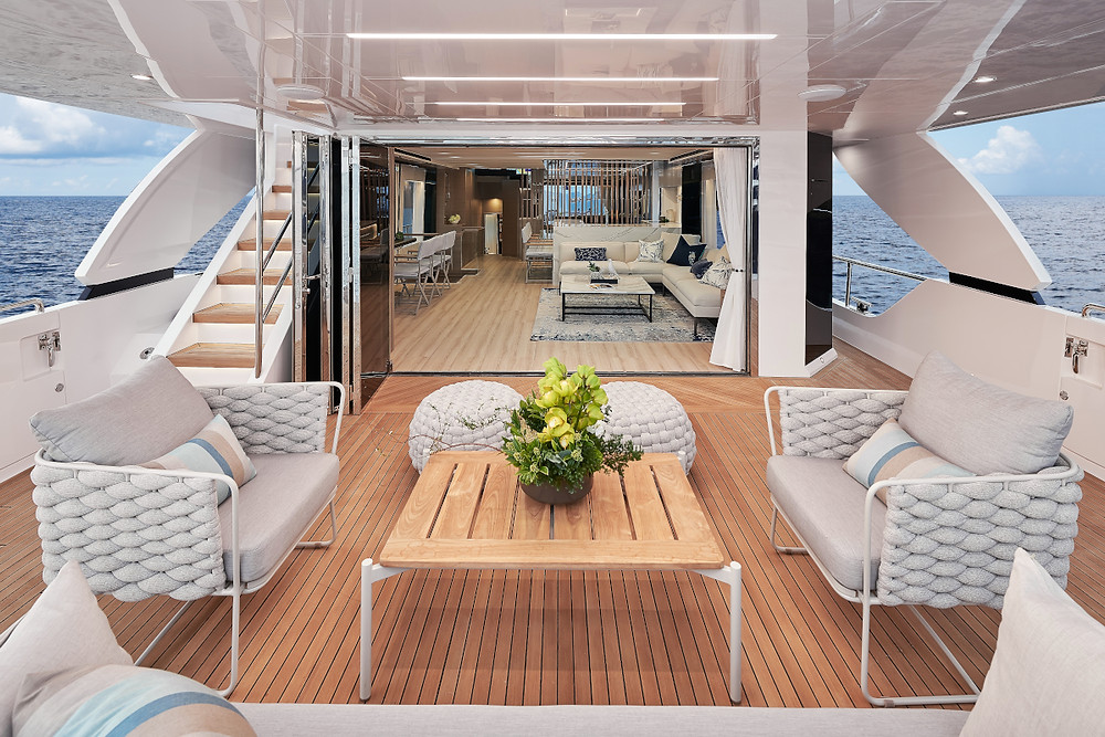 Detalle interior barco Horizon yacht FD75 23 metros nuevo en venta