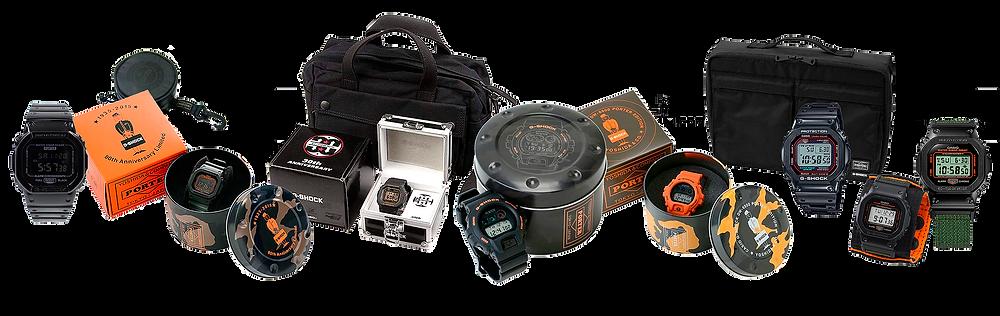 todos los relojes g-shock x porter lanzados ediciones limitadas 2009 - 2021
