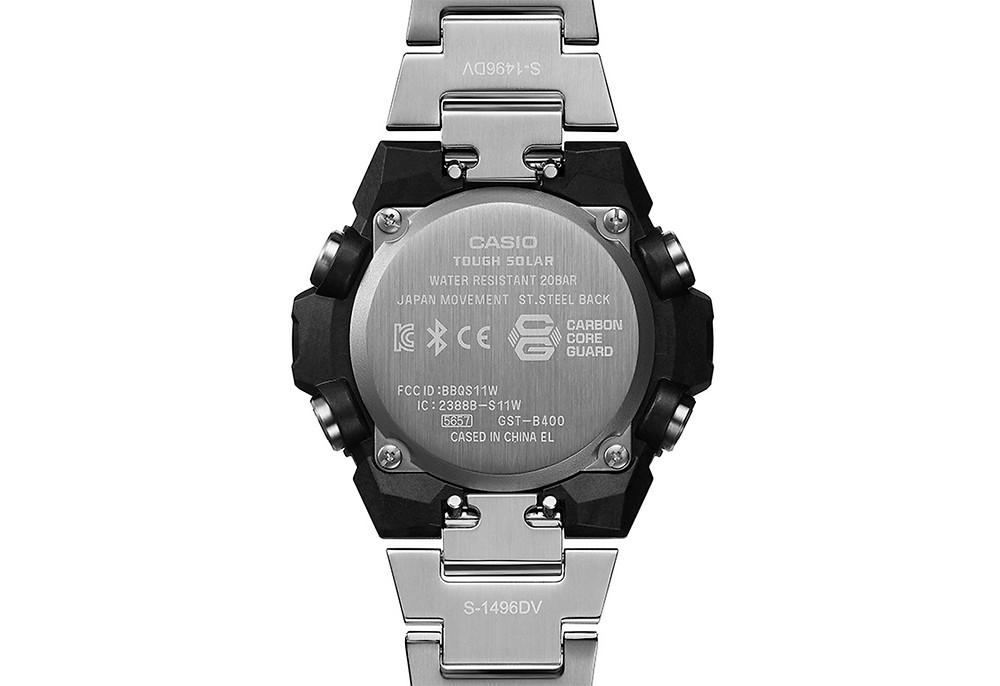 Detalle caja Carbon Core Guard reloj GST-B400AD-1A4