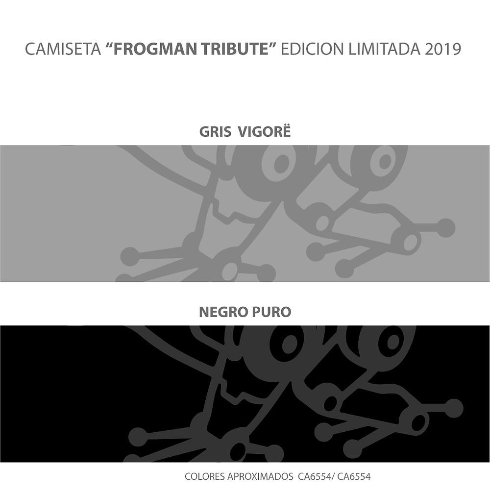 Colores disponibles camiseta G-Shock Frogman Tribute