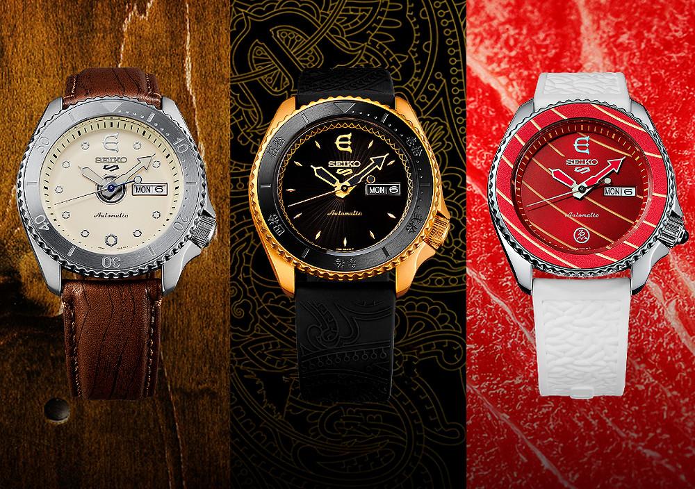 nuevos relojes edicion limitada y numerada SRPF93k1, SRPF94k1, SRPF95k1 cloaboracion con la japonesa Evisen