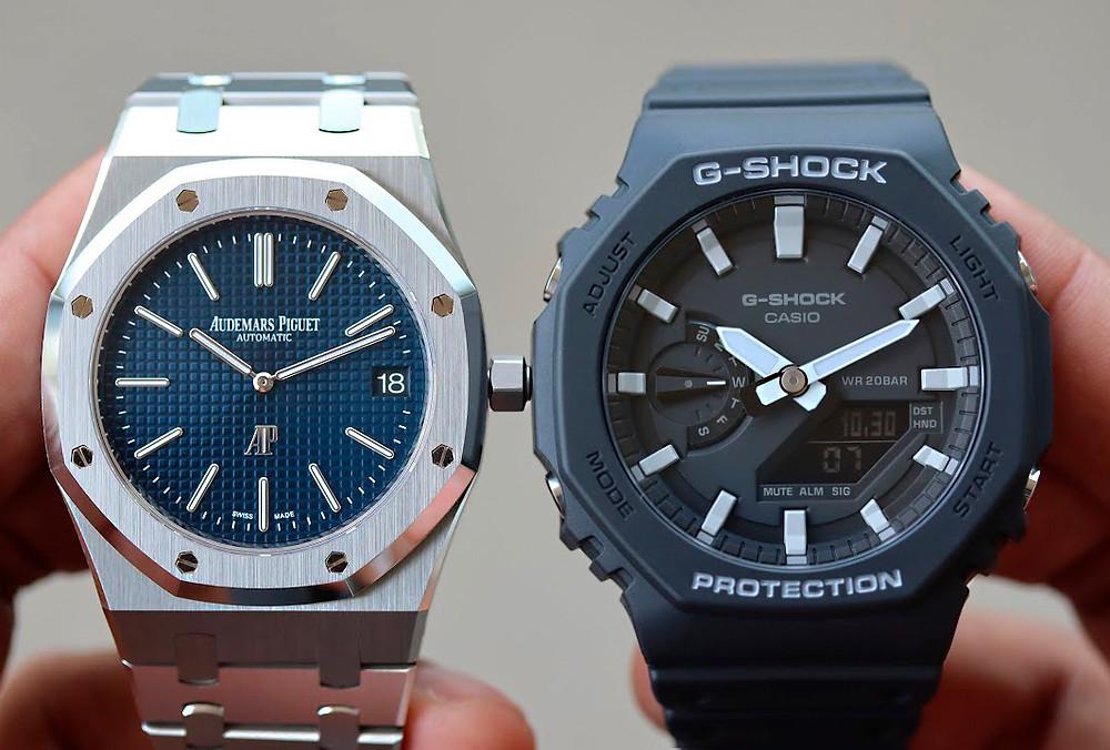 Comparación reloj Audemars Piguet Royal Oak versus Casio G-SHOCK GA-2100