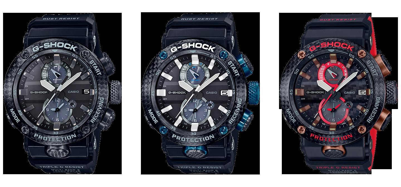 Reloj Casio G-Shock Gravitymaster de Carbono modelos serie GWR-B1000