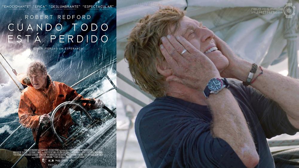 Roberd Redford con reloj Seiko SKX009 en la pelicula cuando todo esta perdido