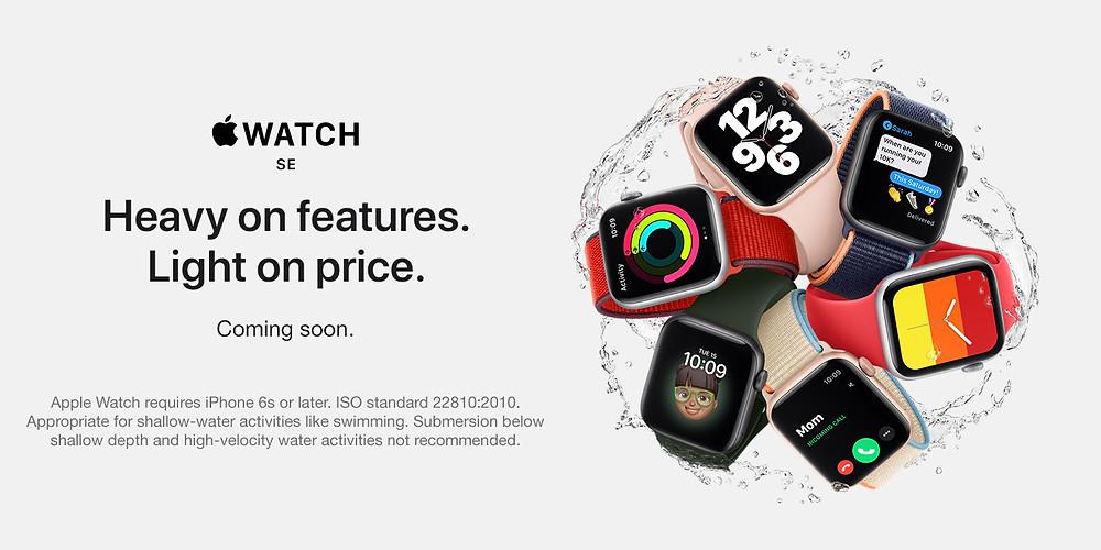 Nuevos Apple watch económicos linea SE novedad 2020