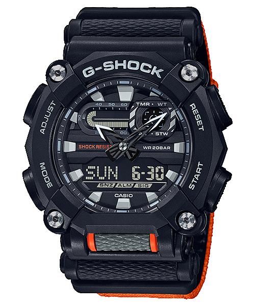 reloj negro y naranja modelo GA-900C-1A4 de casio G-Shock