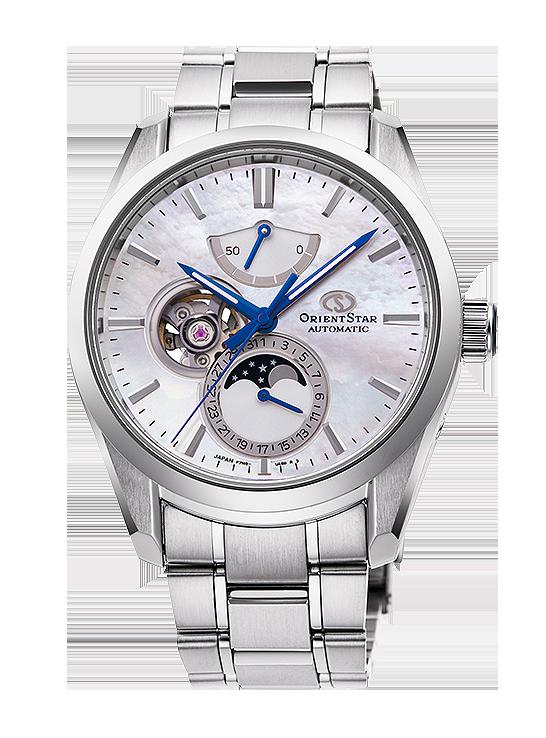 reloj especial con esfera de nacar madre perla 147-RE-AY0005A00B de orient star fabricado en Japón